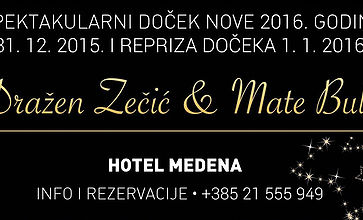 (English) Mate Bulić i Dražen Zečić entertain for New Year's Eve in Hotel Medena