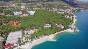 Beach and Hotel Medena from air