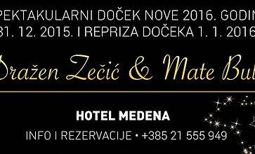 Mate Bulić i Dražen Zečić entertain for New Year's Eve in Hotel Medena